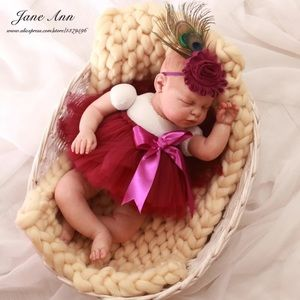 Other - Baby newborn photography prop peacock feather tutu